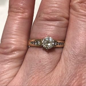 0.5 carat diamond ring 14k